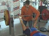 Тяжелоатлеты размялись перед чемпионатом Уссурийска. Видео