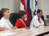 Чемпионов Европы и Южной Кореи по тхэквондо поздравили в администрации Находки