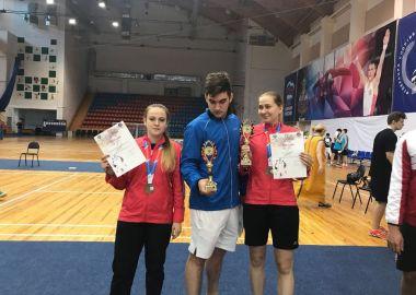 Две бронзовые медали выиграли бадминтонисты из Приморья на финале Спартакиады