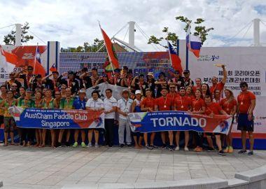 Владивостокская команда завоевала четыре «золота» на международных соревнованиях по гребле на лодках «дракон» в Корее