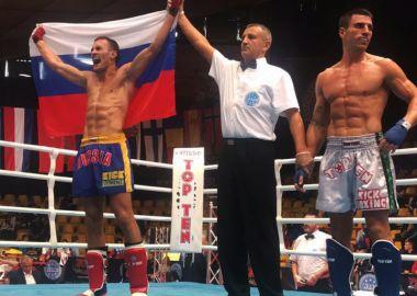 Александр Захаров выиграл золотую медаль на чемпионате Европы по кикбоксингу