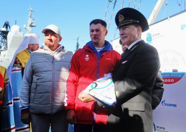 Парусник «Паллада» ушел в кругосветное плавание с флагом Олимпийского комитета России